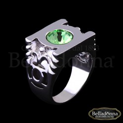 Inel-lat-cu-montura-argintie-si-cristal-verde